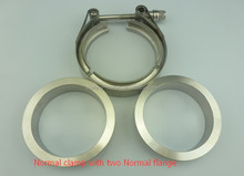 Stainless steel V Band clamp with two flush flanges for Auto exhaust downpipe