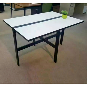 Dining room furniture iron metal folding table frame dinning table