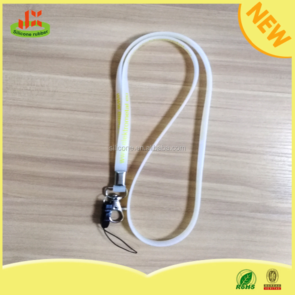 Hot selling promotional cheap printing silicone lanyard cable clip