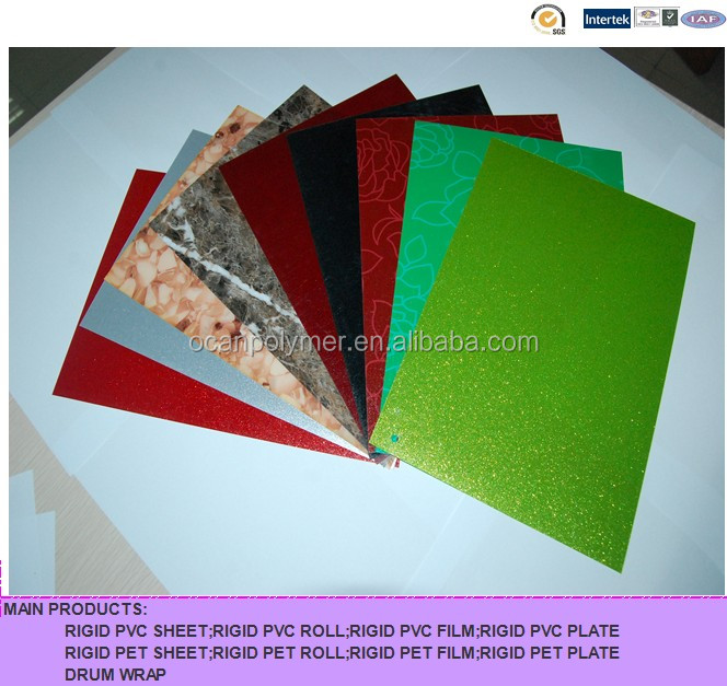colorful PVC rigid film for decoration