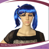 dark blue synthetic cosplay party wig ponytail lace front wig