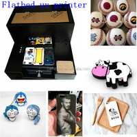 A4 Size 6 Color LED flatbed uv printer a3 with lowest price