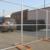 "American 6'X9'5""Portable Galvanized Temporary Construction Site Chain Link Fence"