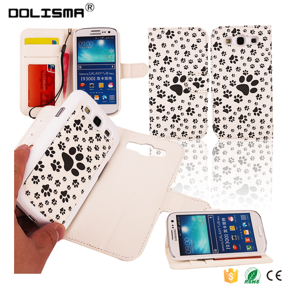 2 in 1 PU Leather Cell Phone Case Sublimation Printed Technology for Samsung Galaxy S4 S5 S6 S7 Edge