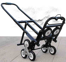 Portable climbing stair folding shopping cart,Heavy duty folding metal shopping cart,Household foldable shopping cart