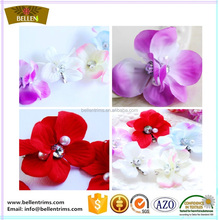 High quality hair clips wedding party artificial silk flower bridesmaids hair accessories