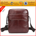 2017 new fashion high quality genuine leather messenger bag men