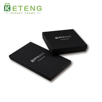 Custom printed black cardboard gift box fancy packaging boxes
