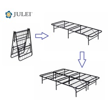 Factory Direct Sell Economic Price Heavy-Duty 14-Inch Queen Platform Metal Bed Frame Mattress Foundation