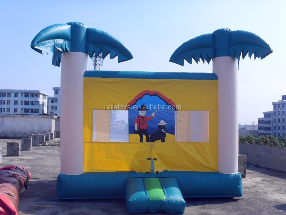 Hola new inflatable bouncer/coco tree inflatable castle/used commercial bounce houses for sale