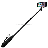Monopod selfie-stick for iPhone/HTC/NOKIA monopod selfie stick with bluetooth shutter