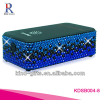 2013 Christmas Gifts Bling Bling Rhinestone Diamond Mini Speaker With Crystal China Supplier