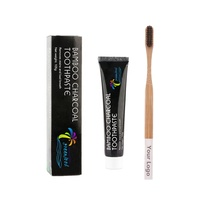 Bamboo activated charcoal teeth whitening toothpaste