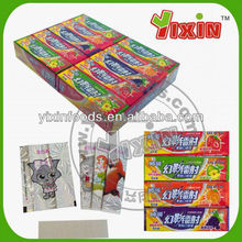 Fruit flavor chewing gum with radiation paper