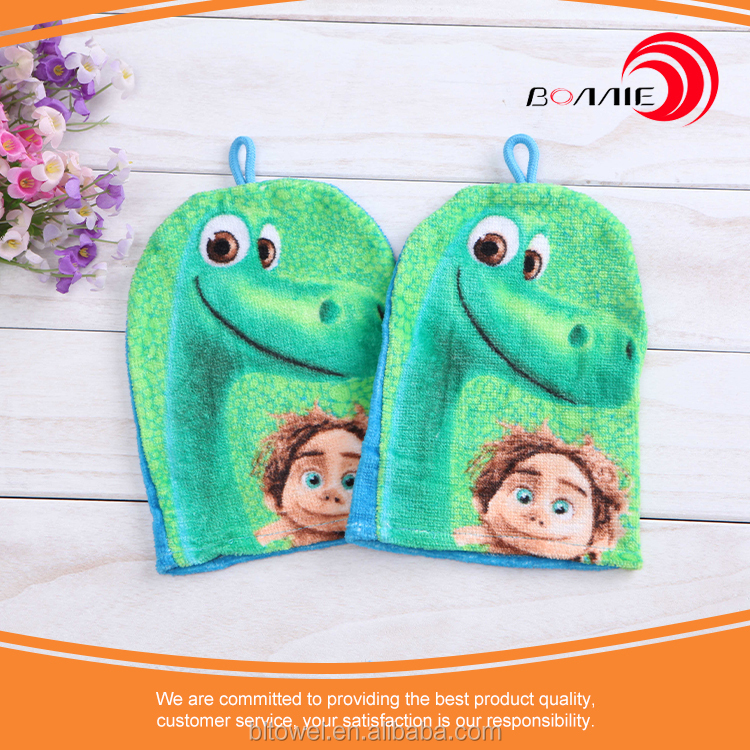 High Quality Cute Baby Wash Mitts Bath toy/mitt/wash Terry Cloth For Boy/girl/baby