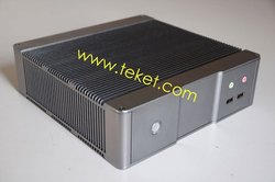 Aluminum Alloy MINI-ITX chassis, Mini PC Case, with fanless DC-to-ATX Power Supply, A01