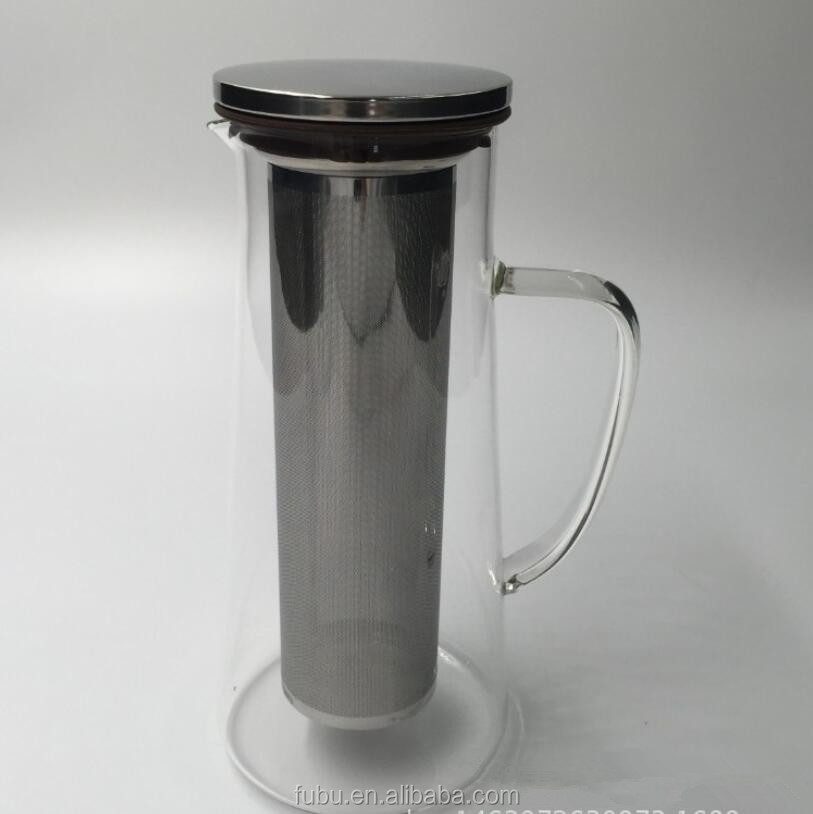 The Tea / Coffee/ Fruit infuser ,With 18/8 Stainless steel filter, The new glass coffee dripper arrived