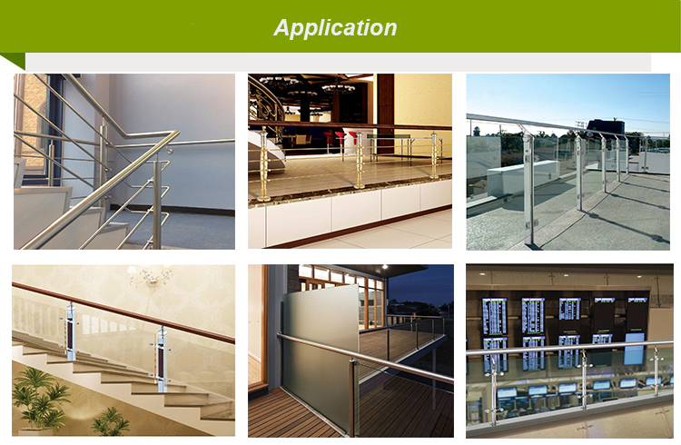 Stainless steel stair railing balustrades handrails