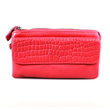 Wholesale fashionable long section leather women wallet