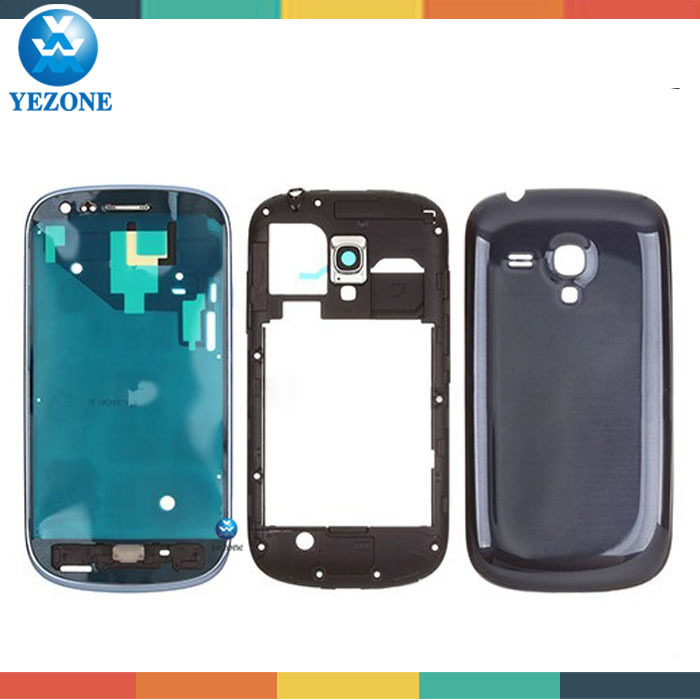 Mobile Phone Full Body Case For Galaxy S3 mini, For Samsung Galaxy S3 Mini gt-I8190 Front Housing/Middle Frame/Battery Door