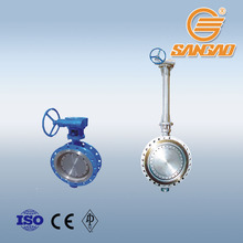 worm gear /turbine drive flange connection butterfly valve pneumatic electric drive hydraulic actuator butterfly valve