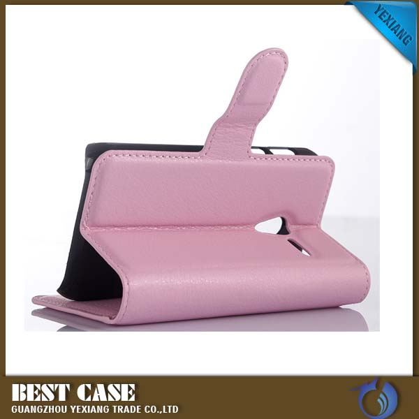 Free Sample Wallet Style Flip Cover For Sony Xperia c s39h Leather Phone Case