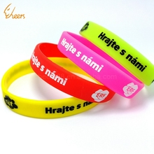 Cheap high quality factory produce silicone custom engraved advertisement bracelet