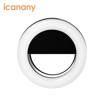 Ring Light Camera USB rechargeable Battery 36 Selfie LEDs Camera Light for iPhone iPad Sumsung Galaxy Photography Phones