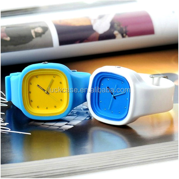 custom printed logo silicone watches