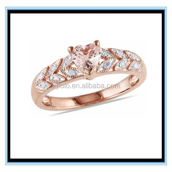 Plated Gold Alloy Material Wedding Rings XP-PR-835