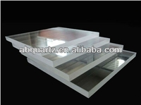 High density High quality Opaque quartz plate glass for Electric light