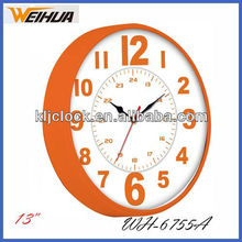 13 inch round plastic wall clock different type of clock