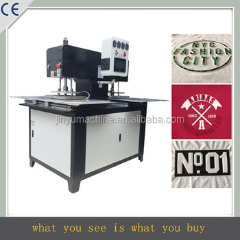 Full automatic 2 stations garment label embossed machine textile embossing machine