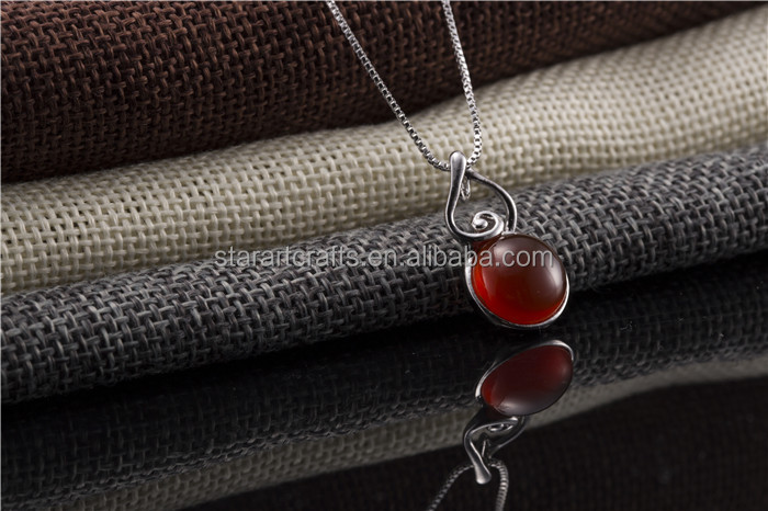 Wholesale latest personality calabash shaped silver jewelry pendant,Red agate pendant