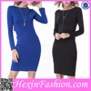 Two Color Women's Black Sexy Short Sleeve Irregular Back Sexy Club Party Dress