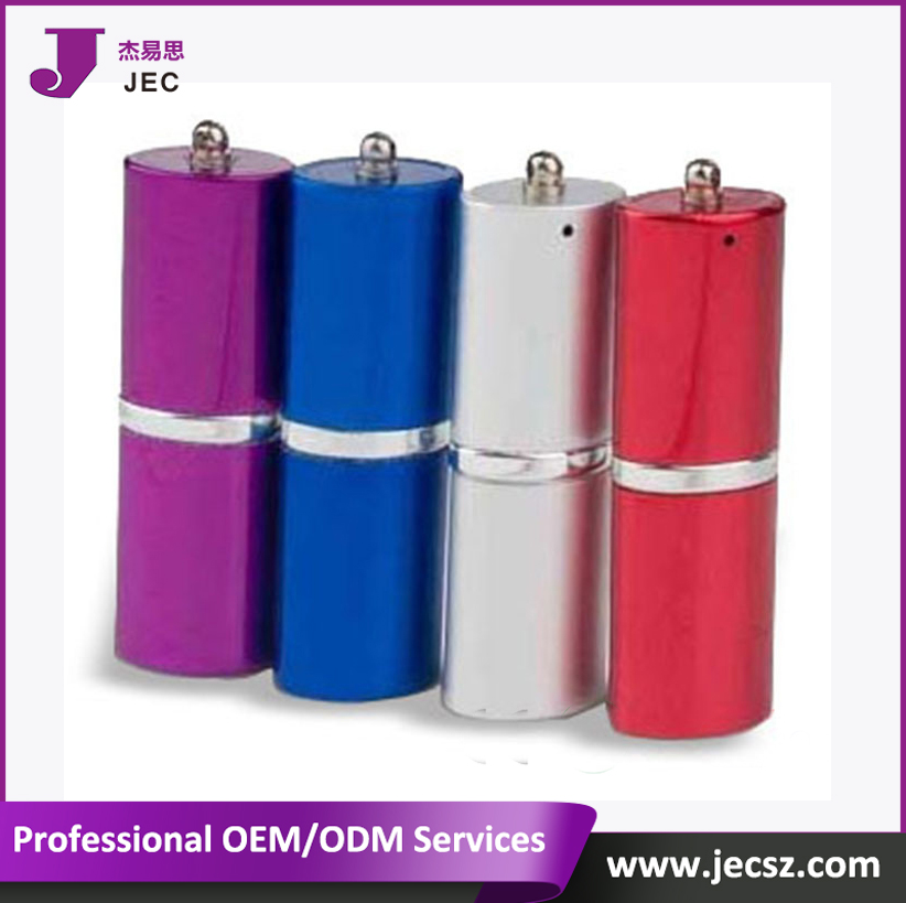 Free laser logo Lipstick usb memory stick 2.0 flash disk Model:JEC-279