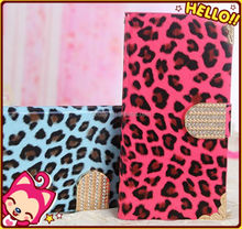 Wholesale for Samsung Galaxy s4 flip case leopard print case for s4