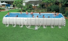 Most popular metal frame & inflatable swimming pool used for the summer vocation