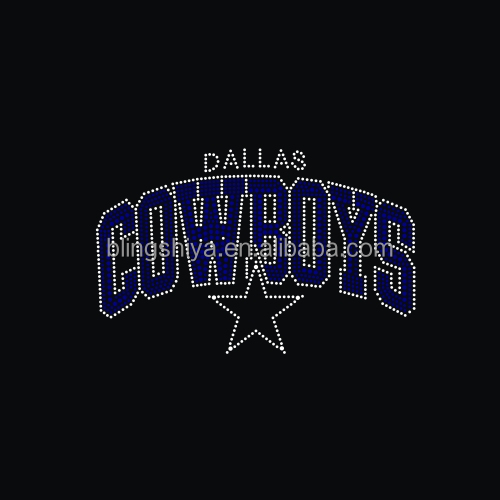Hotsell Heat Rhinestone Dallas Iron ON Cowboys Transfers For Jersey