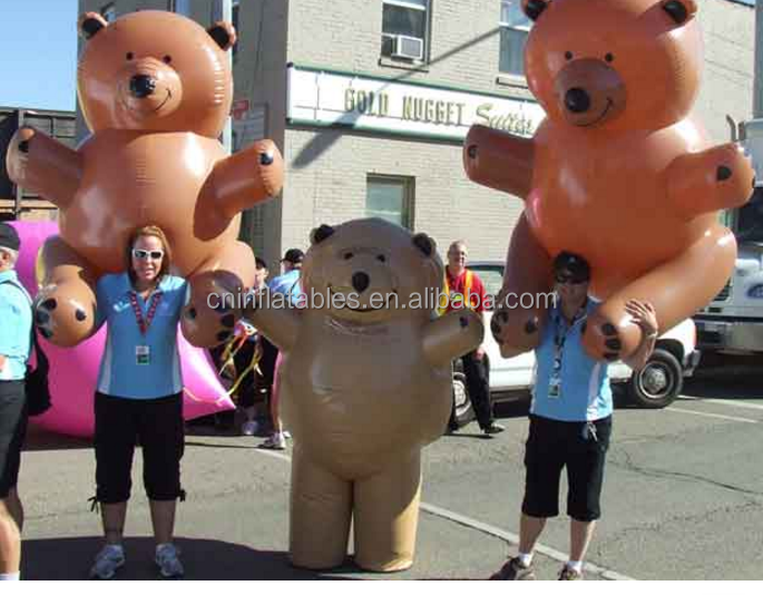 Inflatable Mascot or Costume of Teddy Bear/inflatable replicas