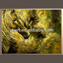 Wholesale Handmade Animal Texture Canvas Painting Of Horse