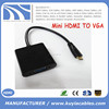 Tablet PC to Projector mini hdmi to vga converter adapter video convertor hdmi-vga cable with chipset male to female