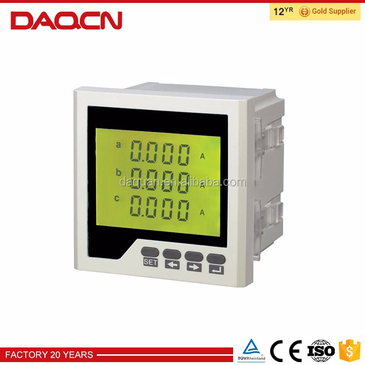 Digital panel 3-phase electric prepaid energy meter