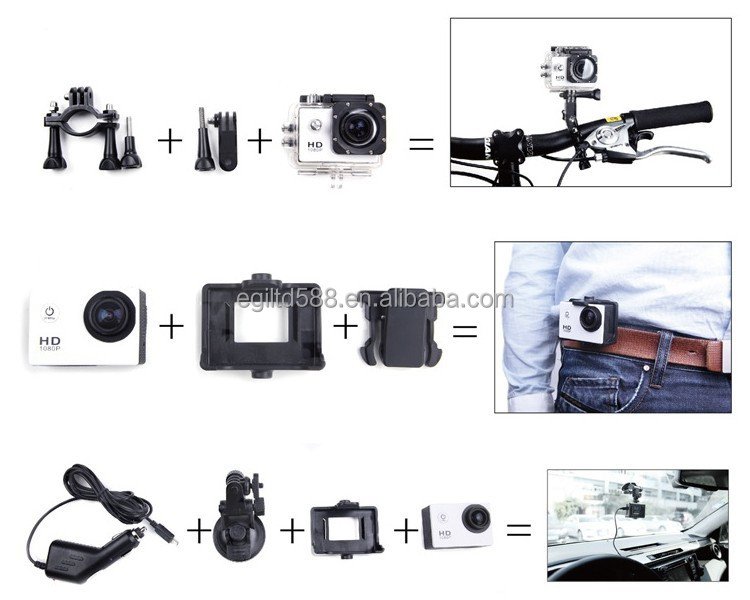 New Camera Full HD 1080P Waterproof Digital Camera SJCAM SJ4000 WIFI with Wide angle lens