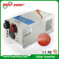 Low frequency pure sine hybrid solar inverter 12v to 220v 5000W with MPPT solar charger and grid or generator charger