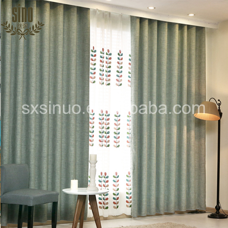 12 Color Luxury linen blackout curtains for the living room