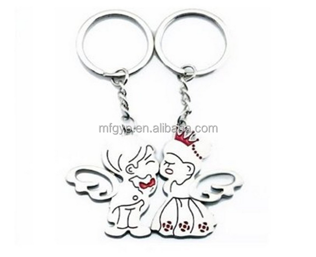 Valentine's Day Boy and Girl Angel Kiss Keychain