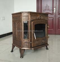 cast iron materail and wood burning heating stove type solid fuel stove BSC335-2