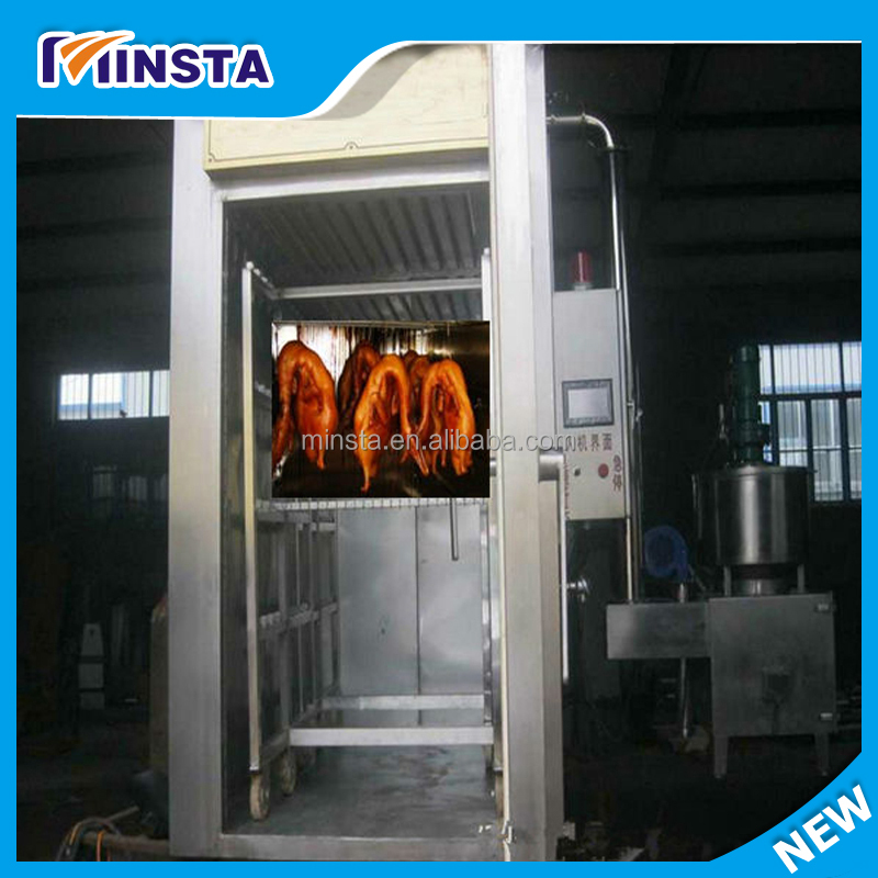 Hot selling commercial automatic Rotisserie Meat Smoker /meat smoking oven /meat smokehouse