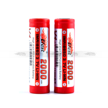 2000mah 18650 High drain battery Efest IMR battery for SVD, K100, K101, vamo, k200 ecig mods